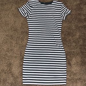 French Connection Striped T Shirt Dress